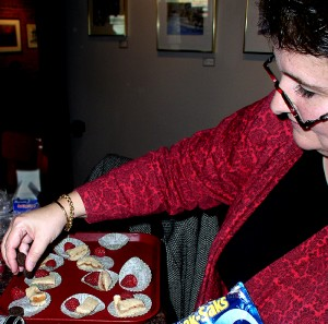 "Kathleen Wright prepares ""fairy snacks"" for her students at Sweetwaters Café in downtown Ann Arbor."