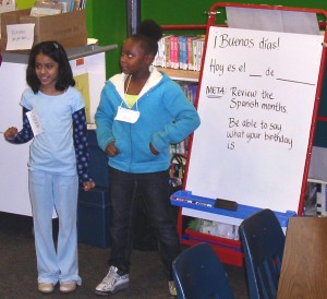 At Haisley Elementary School, third-grade students learn to say their birthdays in Spanish.