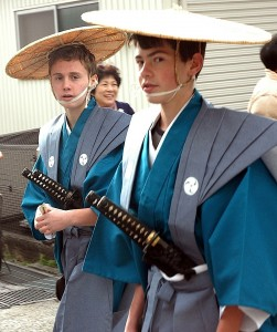 Ann Arbor students participate in a parade during their visit to Japan.