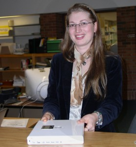 Simona Cucuiet, a volunteer at the Huron High School media center and a former teacher in her homeland of Romania, is in her second year at Huron. She hopes to become certified to teach in the United States.