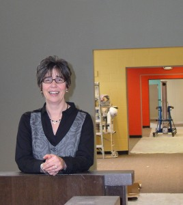 Sara Aeshbach visits the space undergoing renovation at Pioneer High School that will become the new home for Community Education and Recreation. The department opens there on Feb. 2.