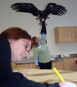 The Leslie Center visits a Skyline classroom.