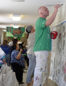 Volunteer painters at Mitchell