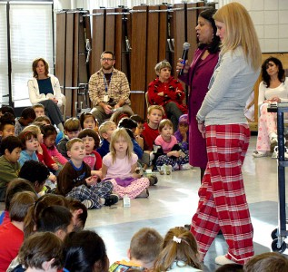 Pajama drive at Logan Elementary