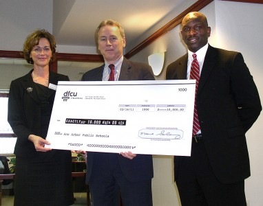 DFCU donates $10,000 to ed foundation