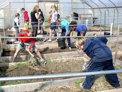 Planting at Tappan garden