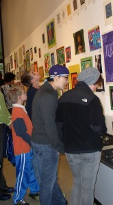 Viewing student artwork