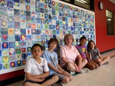 Allen tile mural