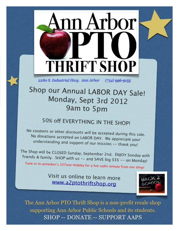 Labor Day 2012 PTO Shop Sale!