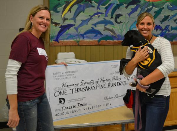 Dicken Dash fundraiser donates $1,500 to Huron Valley Humane Society