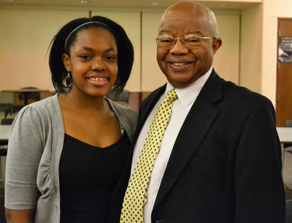 Dr. Comer with Rising Scholar Lauren Comer.
