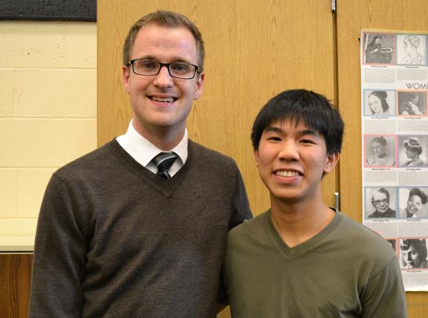 Youth Impact founder Andy Hsaio with teacher advisor Tim Krohn.