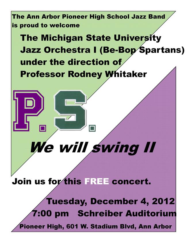 MSU Jazz Band performance info