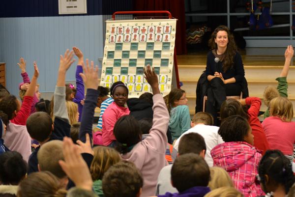 Irina Krush visits Dicken Elementary