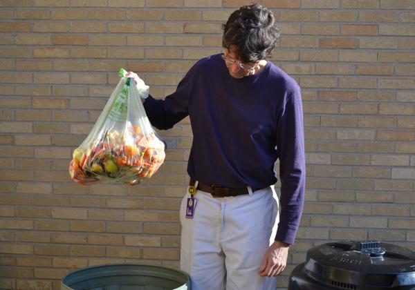 Dave Corsa with compost bag