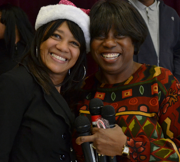 Raquel Huff with Northside Principal Monica Harrold
