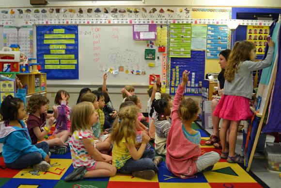 Megan Franzen's kindergarten class at Bach Elementary.