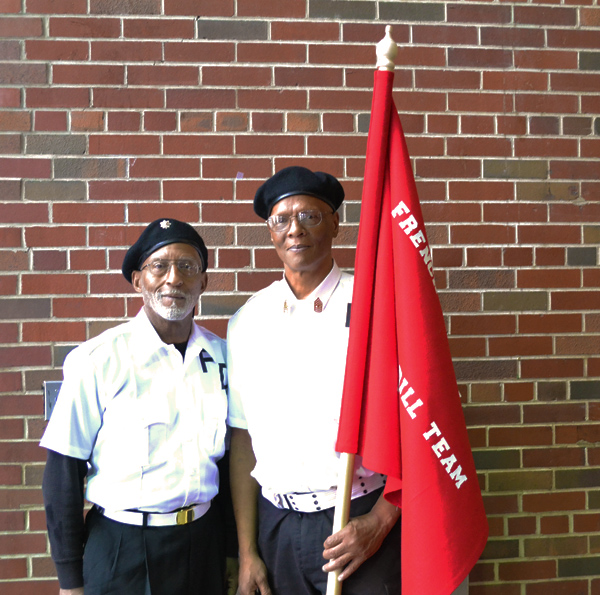 Calvin Ross and Kenneth Mitchell of the French Dukes Drill team.