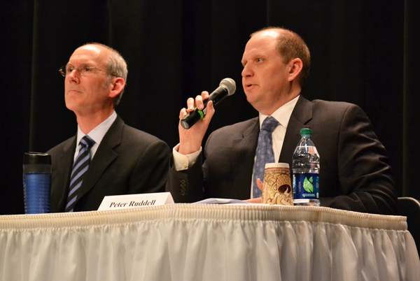 MSU professor of K-12 administration David Arsen and Peter Ruddell, who helped draft Gov. Rick Snyder's education proposal, joined two other panel members from the State Board of Education Monday night. The event was organized by the Washtenaw Alliance for Education.