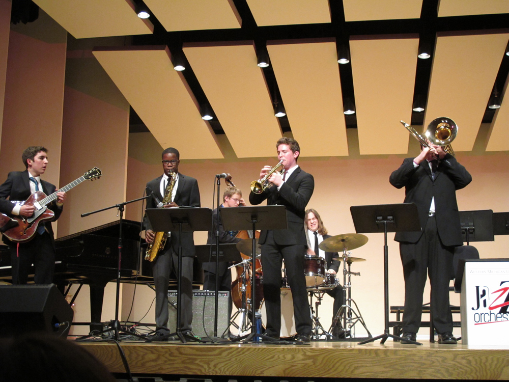 Alex Meingast (guitar), Eddie Codrington (saxophone), Adam Olszewski (bass), Adlai Reinhart (trumpet), Erez Levin (drums), Henry Pakela (trombone)