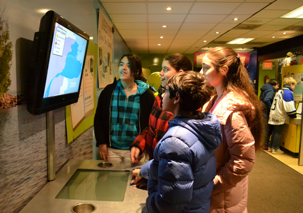 Tappan sixth graders learned about the effects of development on a lake region in the Wayland Foundation's Clean Water Mobile Learning Experience March 26.