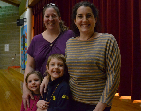 PTO council members Heidi Harris and Caitlin Rowe organized this year's Multicultural Dinner at Allen Elementary.