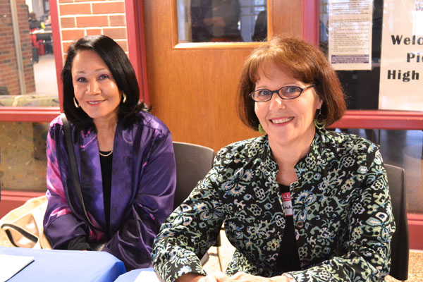 Sharon Brown and Jane Ziesemer, pictured, organized the event along with Joyce Williams.