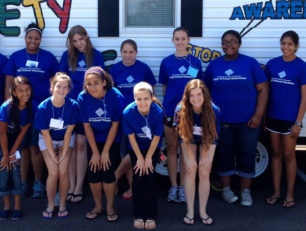High school volunteers at last summer's Rec&Ed Safety Town training. Photo provided by Rec&Ed.