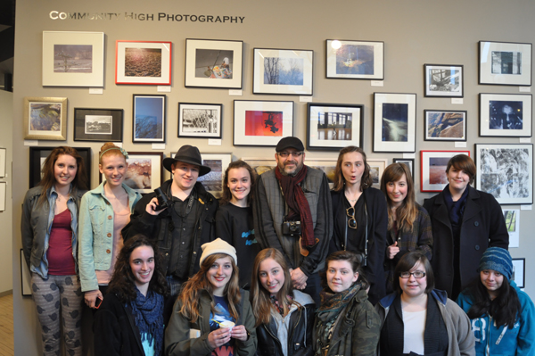 Community High School advanced photography students