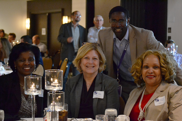 AAPS Deputy Superintendent Alesia Flye, Pioneer High School Principal Cindy Leaman, Pioneer Class Principal Kevin Hudson, and Assistant Superintendent for Secondary Education Robyn Thompson.