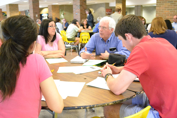 Parents, students and staff discussed the 2013-2014 budget at a Community Budget Forum May 2 at Huron. The next forum takes place May 7 at Pioneer.