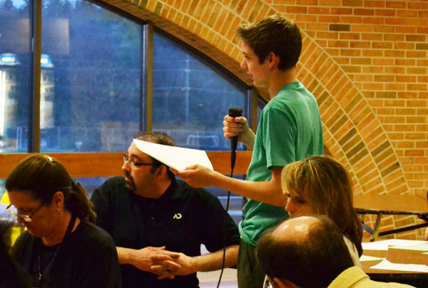 Students attended a Community Budget Forum May 2.