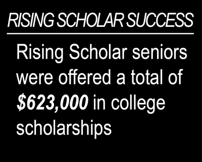 Rising Scholar seniors were offered a total of $623,000 in scholarships