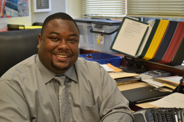 "Ché Carter says returning to Clague Middle School as a principal feels like ""going home."""