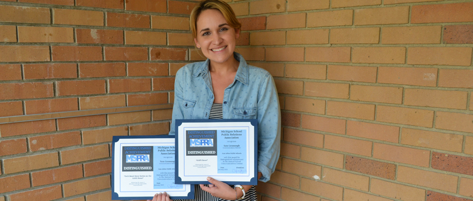 AAPS News Awards from the Michigan School Public Relations Association