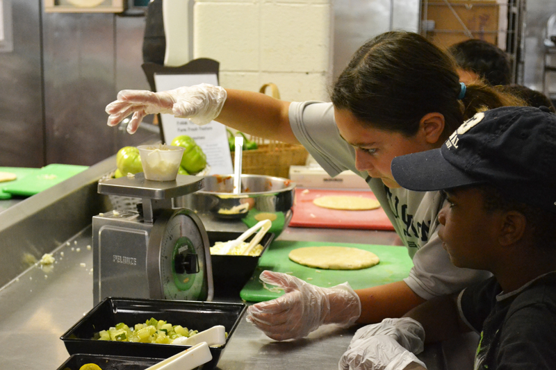 Green Adventures Camp pizza making