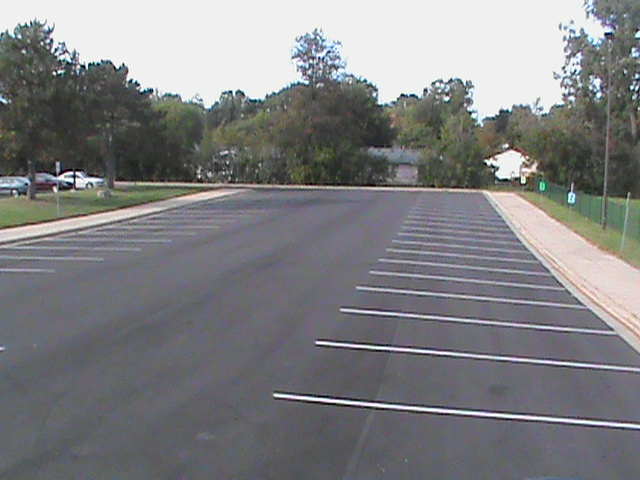 A freshly paved parking lot at Bryant Elementary, provided by the sinking fund.