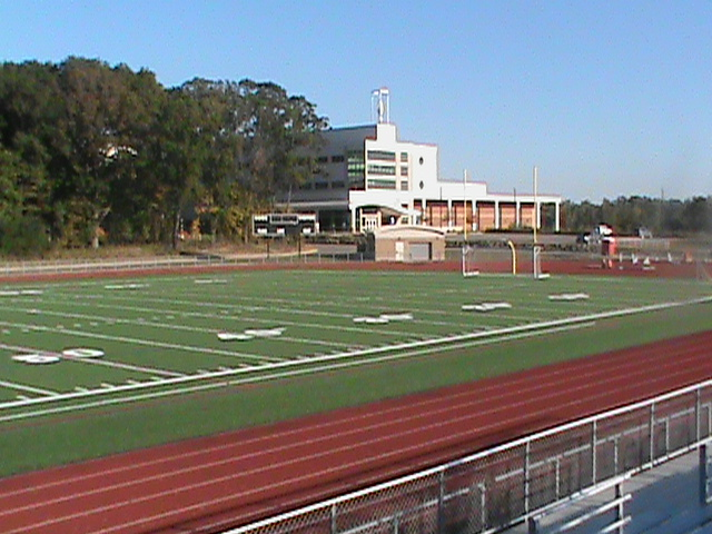 Skyline's new turf field, installed this summer with money from the sinking fund.