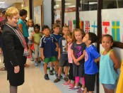 Dr. Swift visits Thurston Elementary School Sept. 3, 2013