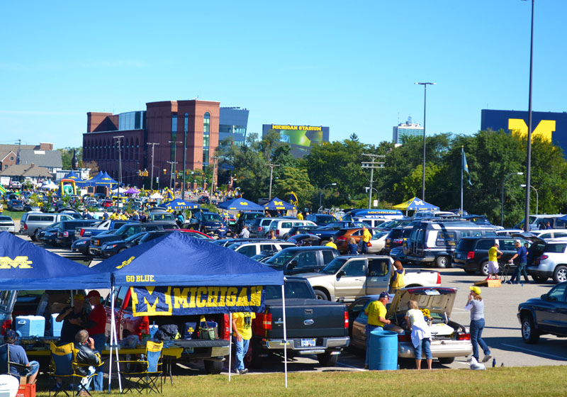 Parking at Pioneer High School provides easy access to the game and an impressive source of revenue for the Ann Arbor Public Schools.