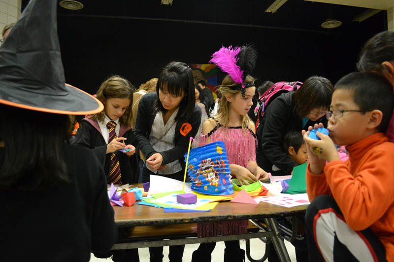 The Harvest Moon celebration provided dozens of hands-on activities, such as origami making.