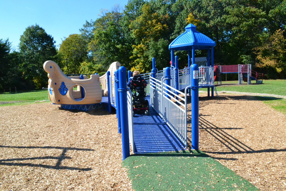 Haisley's new playground provides a safe and accessible area for special needs students to play.