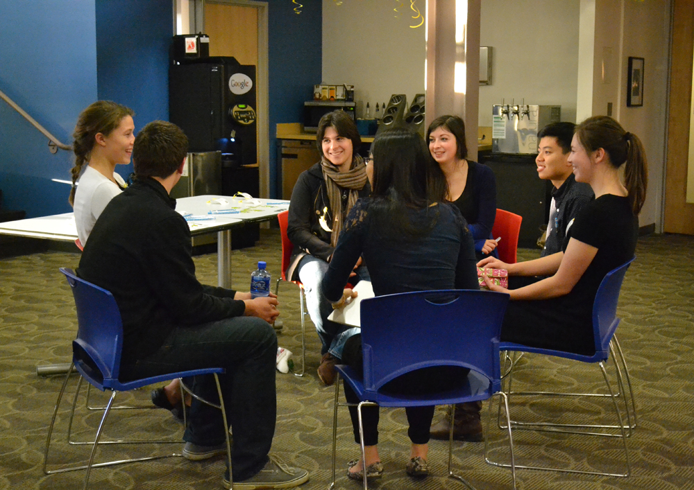 Two-dozen AAPS juniors and seniors toured Google Ann Arbor's offices, spoke with a panel of employees of several specialties, and talked with employees in groups about their career goals.