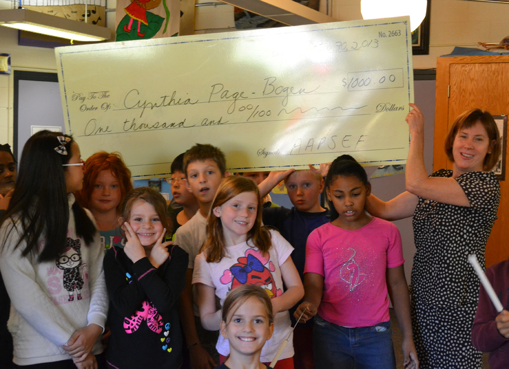 Cynthia Page-Borgen was one of 25 teachers to be surprised with a Great Idea Grant on Oct. 29.