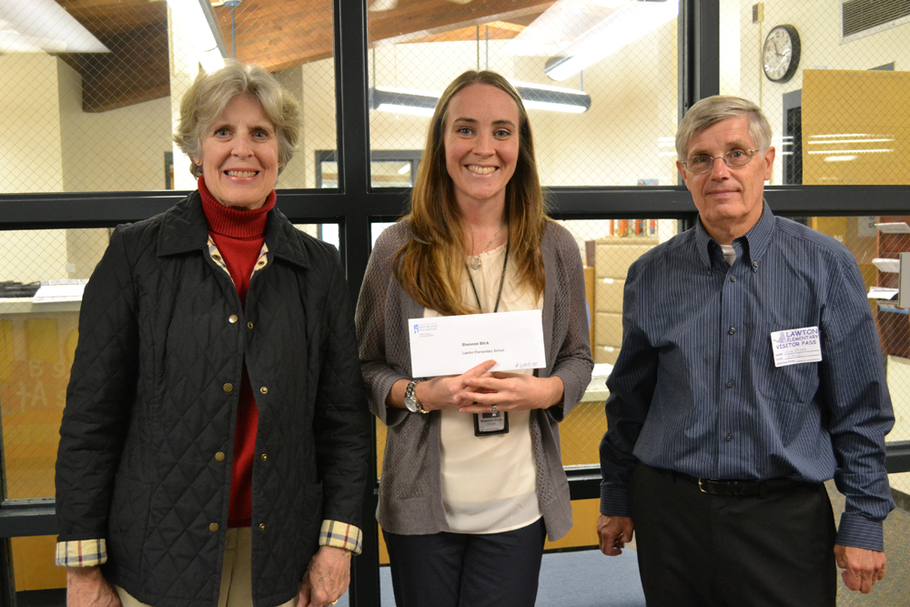 Lawton Principal Shannon Blick received an AAPSEF Great Idea Grant to help provide level-specific reading materials for all students.