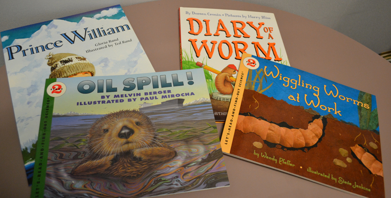 "Each lesson comes with a fiction and nonfiction book. For example: ""Diary of a Worm"" is a fictional text, while ""Wiggling Worms at Work"" is a nonfiction text."