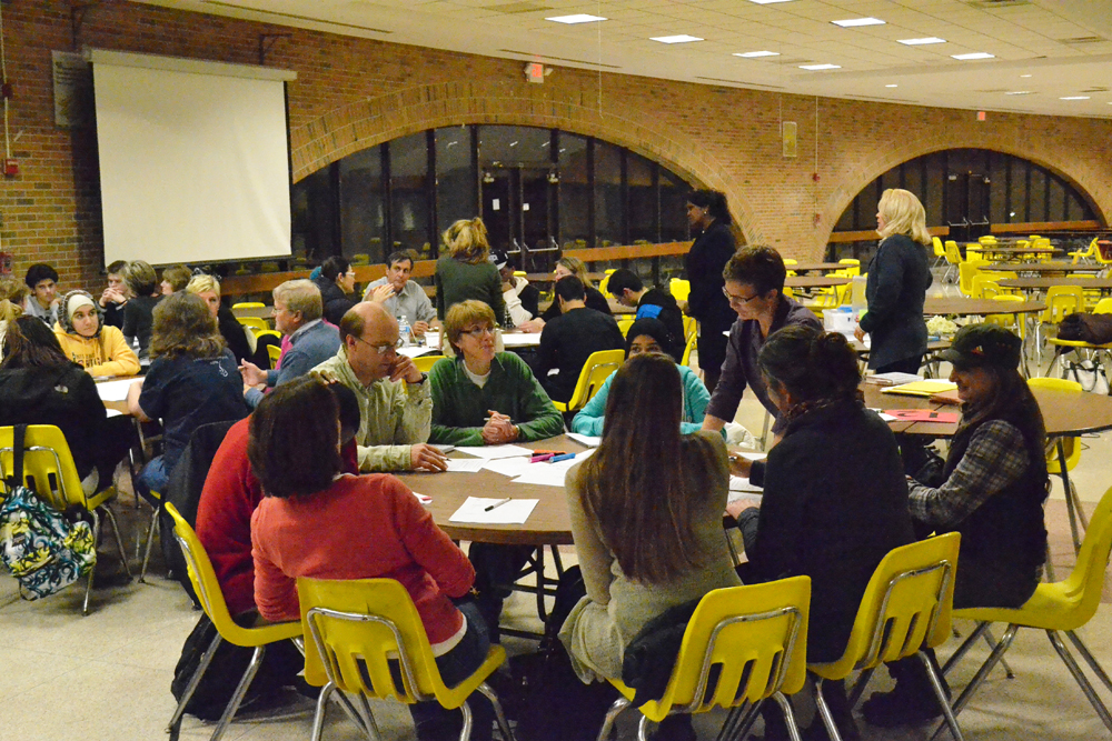 Huron High School's Listen and Learn forum on Oct. 29, 2013.