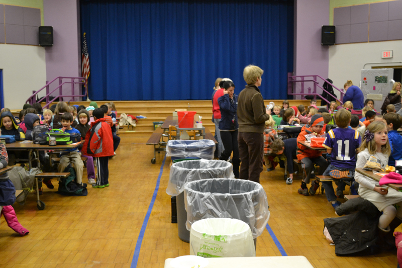 Lunchtime at Eberwhite Elementary, December 2012.