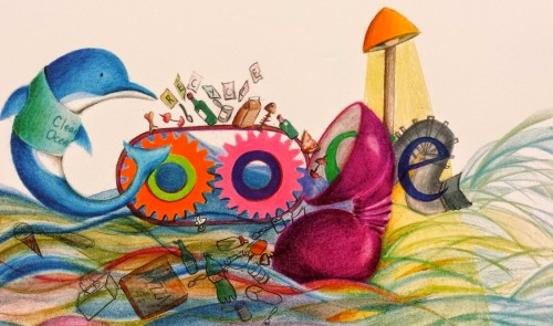 "Logan Elementary Student Hannah Hu's ""Doodle4Google"" design"
