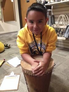Fourth grader chooses his fair trade product.
